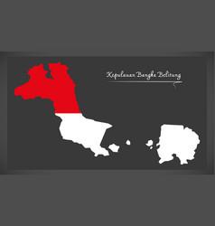 kepulauan bangka belitung indonesia map with vector image