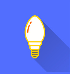 lamp - icon for graphic and web design vector image