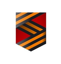 Logo ribbons in form shield vector