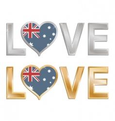 love Australia vector image