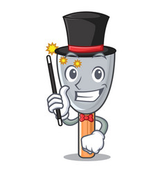 Magician vintage putty knife on mascot vector
