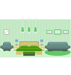 modern bedroom interior with furniture including vector image