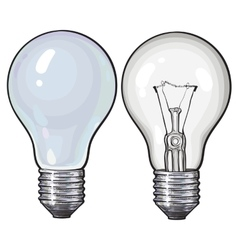 Modern fluorescent energy saving and traditional vector image