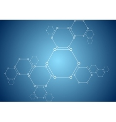 Molecular structure abstract tech bright vector