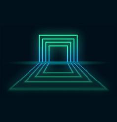 neon abstract futuristic background neon portal vector image