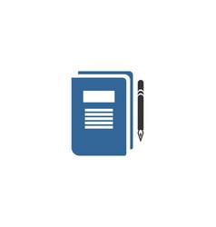 note book logo vector image