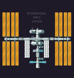 Orbital international space station concept vector
