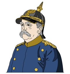 Otto von Bismarck the Iron Chancellor vector image