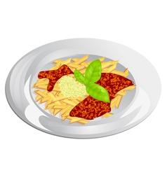 Pasta dish vector