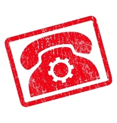 Phone Settings Icon Rubber Stamp vector