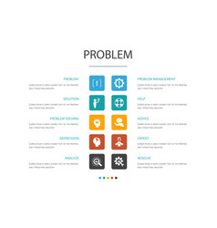 Problem infographic 10 option concept solution vector