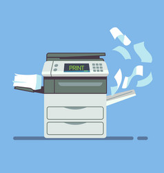 Professional office copier multifunction printer vector