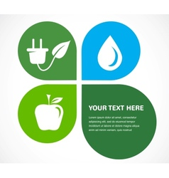 recycle icons wit place for your text vector image