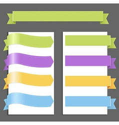 Set Pastel Ribbons vector image
