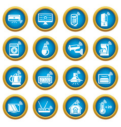 Smart home icons set simple style vector