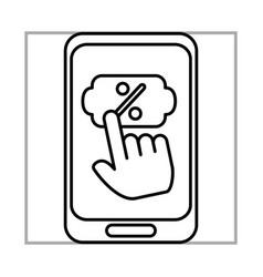 smartphone click discount button mobile marketing vector image
