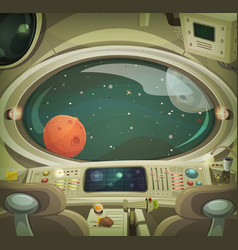 Spaceship interior vector