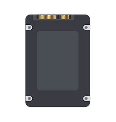 Ssd back view isolated on white background vector