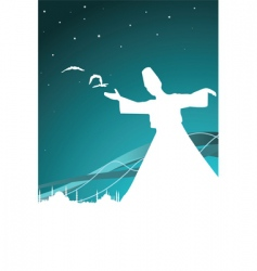 Sufism vector image