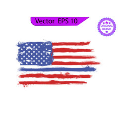 thin blue line us flag flag with police blue line vector image