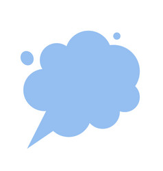 thinking cloud dreaming chat bubble message vector image