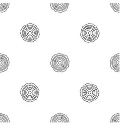 tree saw cut pattern seamless vector image