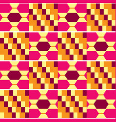 Tribal kente mud cloth seamless pattern vector