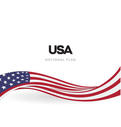 Usa waving flag banner the united states vector