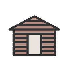 Wood cabin vector