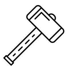 Work sledge hammer icon outline style vector