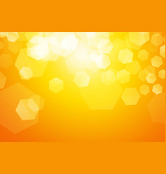 yellow sparkle blur hexagon background vector image