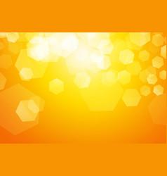 yellow sparkle blur hexagon background vector image