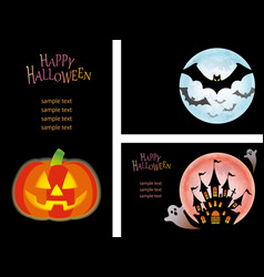 a happy halloween set vector image