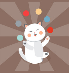 circus cat cheerful for kids vector image vector image
