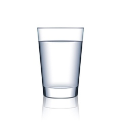 Glass of water isolated on white vector image vector image