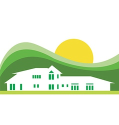Hotel house background vector image vector image