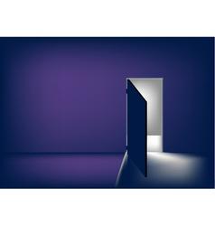 open the door vector image