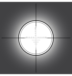 Sniper scope over black background vector image vector image