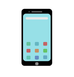template picture of a smartphone in a flat style vector image