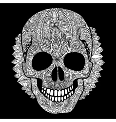 white skull day of the dead vector image vector image
