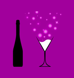 bottle of alcohol vector image vector image