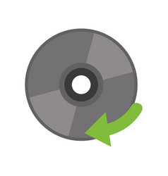 compact disk digital game vector image