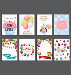 happy birthday holiday greeting and invitatio vector image