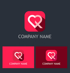 love icon valentine logo vector image