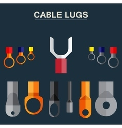 Lugs Cable vector image vector image