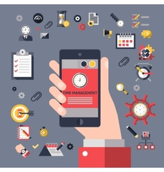 Mobile time management vector image