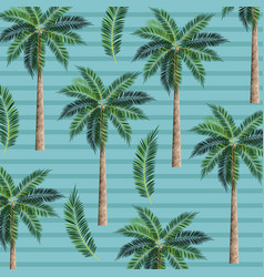 palms trees background vector image vector image