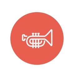 Trumpet thin line icon vector image