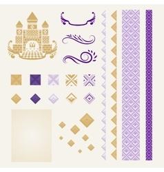Corporate Identity Design Elements in Mid-Century vector image