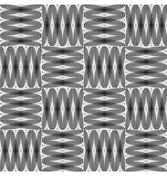 Design seamless monochrome checked pattern vector image vector image
